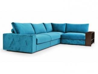 Голубой модульный диван Таити  - Мебельная фабрика «Джениуспарк»