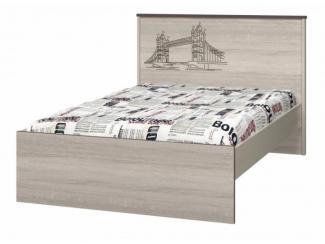 Кровать 1200 с настилом ИД 01.254 Хеппи - Мебельная фабрика «Интеди»