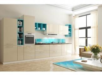 Кухня в бежевом цвете Либерта small - Мебельная фабрика «Cucina»