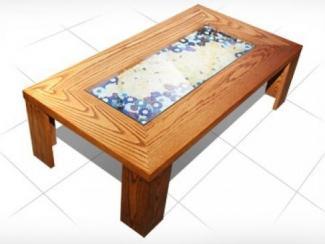 Журнальный стол с фьюзингом ССЖ.058 - Мебельная фабрика «Калинка»