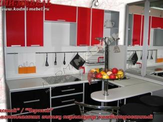 Кухонный гарнитур угловой Красный-черный