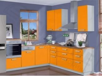 Оранжевая угловая кухня Миксколор - Мебельная фабрика «SL-Мебель»