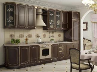 Кухня прямая «Шоколад Тюдор» - Мебельная фабрика «Ладос-мебель»