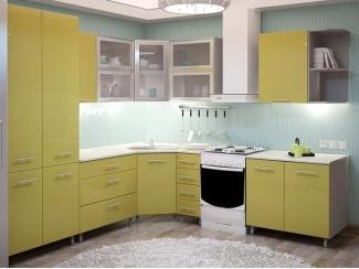Желтая угловая кухня METRIO Д 5 - Мебельная фабрика «Центр мебели Интерлиния»
