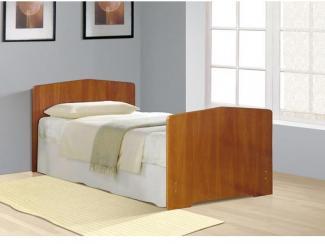 Кровать c фигурной спинкой кромка Т-образный кант - Мебельная фабрика «Фант Мебель»