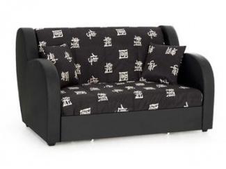 Черный диван Барон