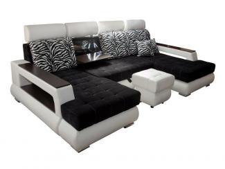 Диван п-образный Неаполь с подголовниками и баром - Мебельная фабрика «FAVORIT COMPANY»