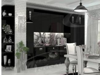 Кухня прямая «Black Бурлеск» - Мебельная фабрика «Ладос-мебель»