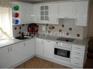 Простая белая кухня  - Мебельная фабрика «700 Кухонь»