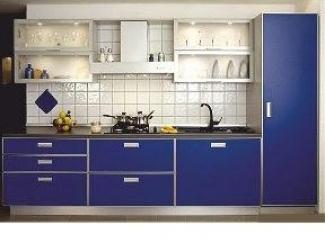 Кухня  фасад  - пластик в алюминиевой рамке
