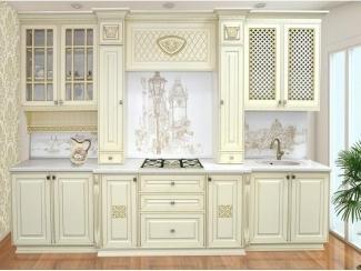 Светлая прямая кухня Версаль 2 - Мебельная фабрика «Прометей»