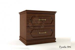 Прикроватная тумба 6 с двумя ящиками - Мебельная фабрика «Каприз»
