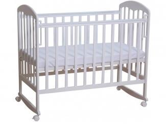 Детская кровать из массива 313 белая - Мебельная фабрика «Воткинская промышленная компания»