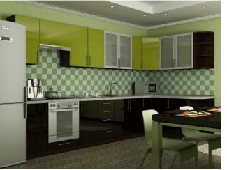 Кухня из пластика Лайм - Мебельная фабрика «Derli»