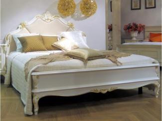 Кровать с кожаным изголовьем - Импортёр мебели «Spazio Casa»