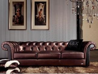 Диван в каретной стяжке - Импортёр мебели «Стиль (Armani&Xavira, Италия)», г. Москва