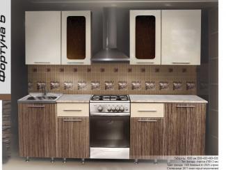 Кухонный гарнитур прямой Фортуна 5 - Мебельная фабрика «Форт»