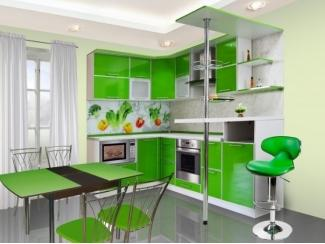 Кухня с барной стойкой Модерн 17