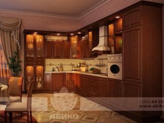 Кухня Элегия Вишня массив - Мебельная фабрика «Абико»