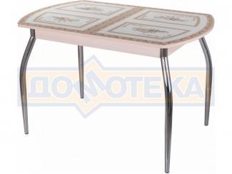 Стол кухонный со стеклом Гамма ПО-1 - Мебельная фабрика «Домотека»