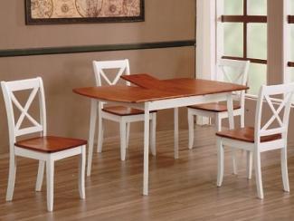 Стол JIN EXT 3248 H4 ANTIQUE OAK+WHITE