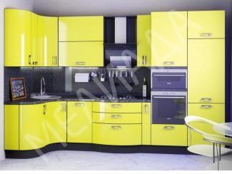 Кухня Желтый пайпер - Мебельная фабрика «Мелиада»