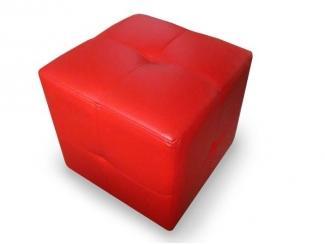 Красный пуф 2 - Мебельная фабрика «Мега-Проект»