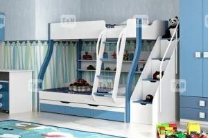 Детская двухъярусная кровать Tracy Blue - Мебельная фабрика «ТомиНики»