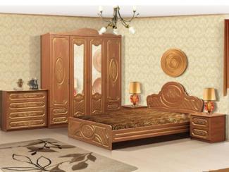 Спальня модульная Виктория-1 комплектация 2 с патиной - Мебельная фабрика «Аристократ»