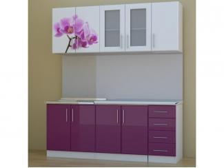 Простая кухня с фотопечатью  - Мебельная фабрика «Авалон»