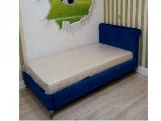 Детская  синяя кровать