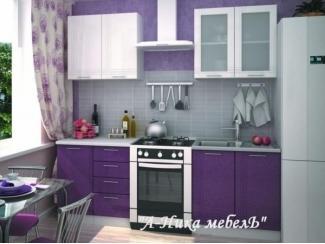 Небольшая фиолетовая кухня Вертикаль - Мебельная фабрика «А-Ника»