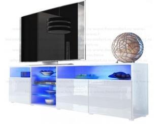 Белый комод с синей подсветкой Элит  - Мебельная фабрика «Комфорт»