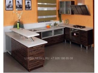 Полуостровная кухня с фасадами ДСП - Мебельная фабрика «ЛюксБелМебель»