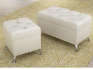 Пуф белый - Мебельная фабрика «Успех»
