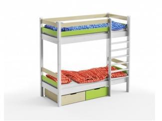 Двухъярусная кровать с 2 ящиками - Мебельная фабрика «GRIFON»
