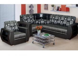 Угловой диван с баром Бостон-1 - Мебельная фабрика «Катрина»