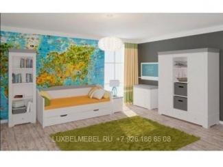 Белая детская мебель из массива модель 10145 - Мебельная фабрика «Тамерлан-Стиль (ЛюксБелМебель)»