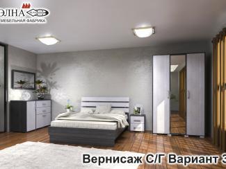 Спальня Вернисаж вариант 3 - Мебельная фабрика «Элна»