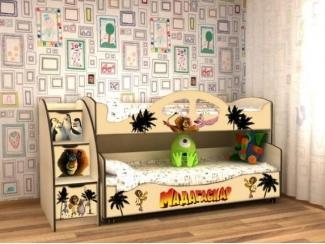 Кровать детская с УФ печатью КД Альфа 5.2 - Мебельная фабрика «Квадрат»