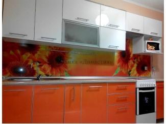 Оранжевая кухня  - Мебельная фабрика «Династия»