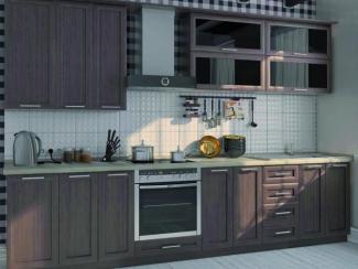 Кухонный гарнитур прямой Орех рамка  - Мебельная фабрика «КМ мебель», г. Иркутск