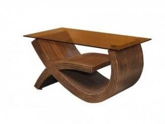 Деревянный стол со стеклянной столешницей Дуэт 3