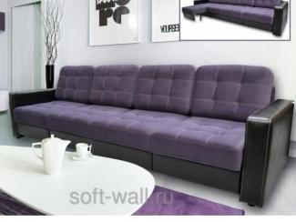 Фиолетовый модульный диван Трансформер 2 - Мебельная фабрика «SoftWall», г. Омск