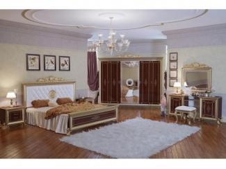 Спальный гарнитур с большим шкафом Версаль орех 2 - Мебельная фабрика «Мэри-Мебель»