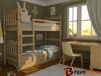 Детская кровать Соня сосна - Мебельная фабрика «Bravo Мебель»