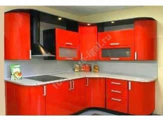 Угловая красная кухня  - Изготовление мебели на заказ «Игал»