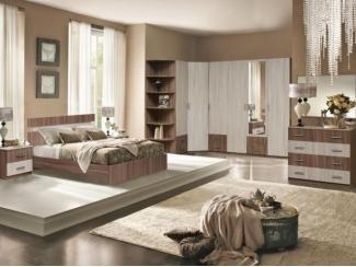 Спальня модульная Вербена комплектация 2 - Мебельная фабрика «Аристократ»