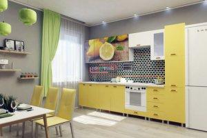 Кухня Фиалка фото ЛДСП Желтый / Лимоны - Мебельная фабрика «Вестра»