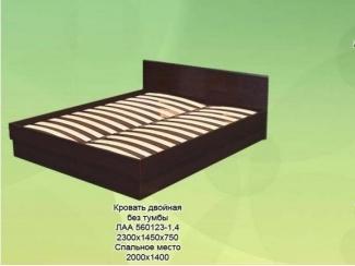 Кровать двойная  без тумбы - Мебельная фабрика «КрайМебель-Краснодар»